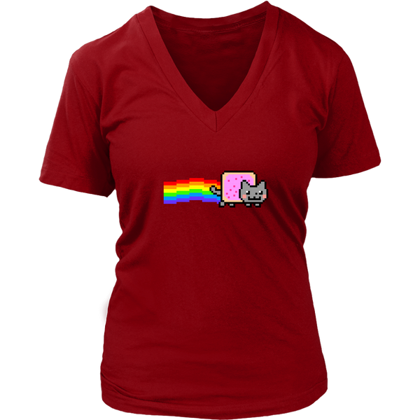 Nyan Cat Women's V-Neck T-Shirt