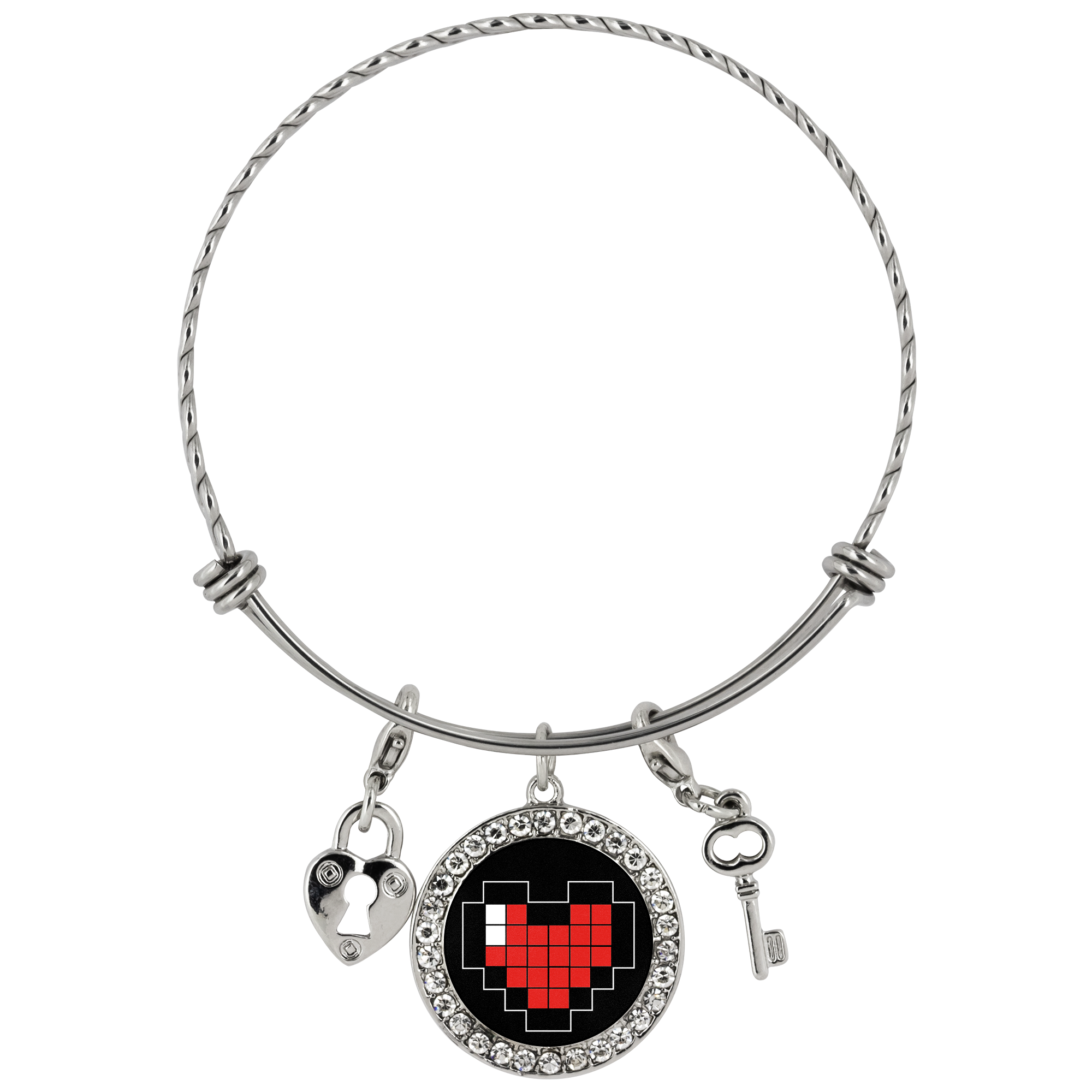 Pixelated Heart Chloe Bracelet