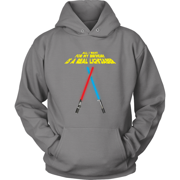 Working Lightsaber Birthday Wishes Hoodie