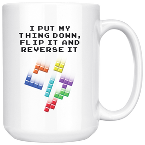 Tetris Put My Thing Down Mug