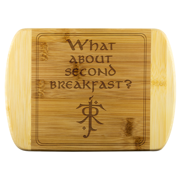 LOTR Second Breakfast Laser Etched Bamboo Cutting Board