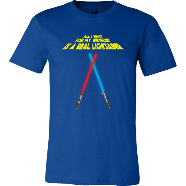 Working Lightsaber Birthday Wishes Men's T-Shirt