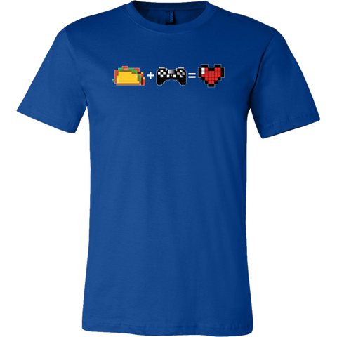 Food + Gaming = Love (Playstation Edition) Men's T-Shirt