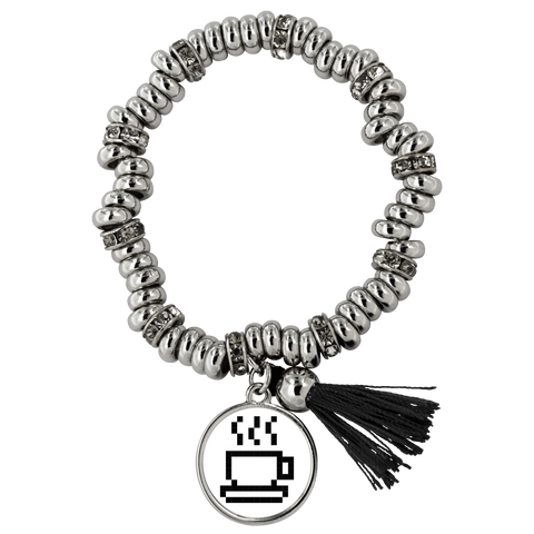 Coffee Lovers Pixel Art Piper Bracelet