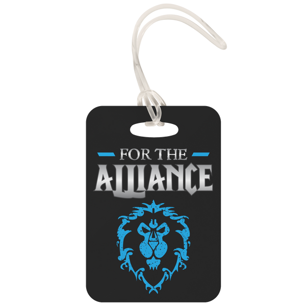 "World of Warcraft ""For the Alliance"" Metal Luggage Tag"