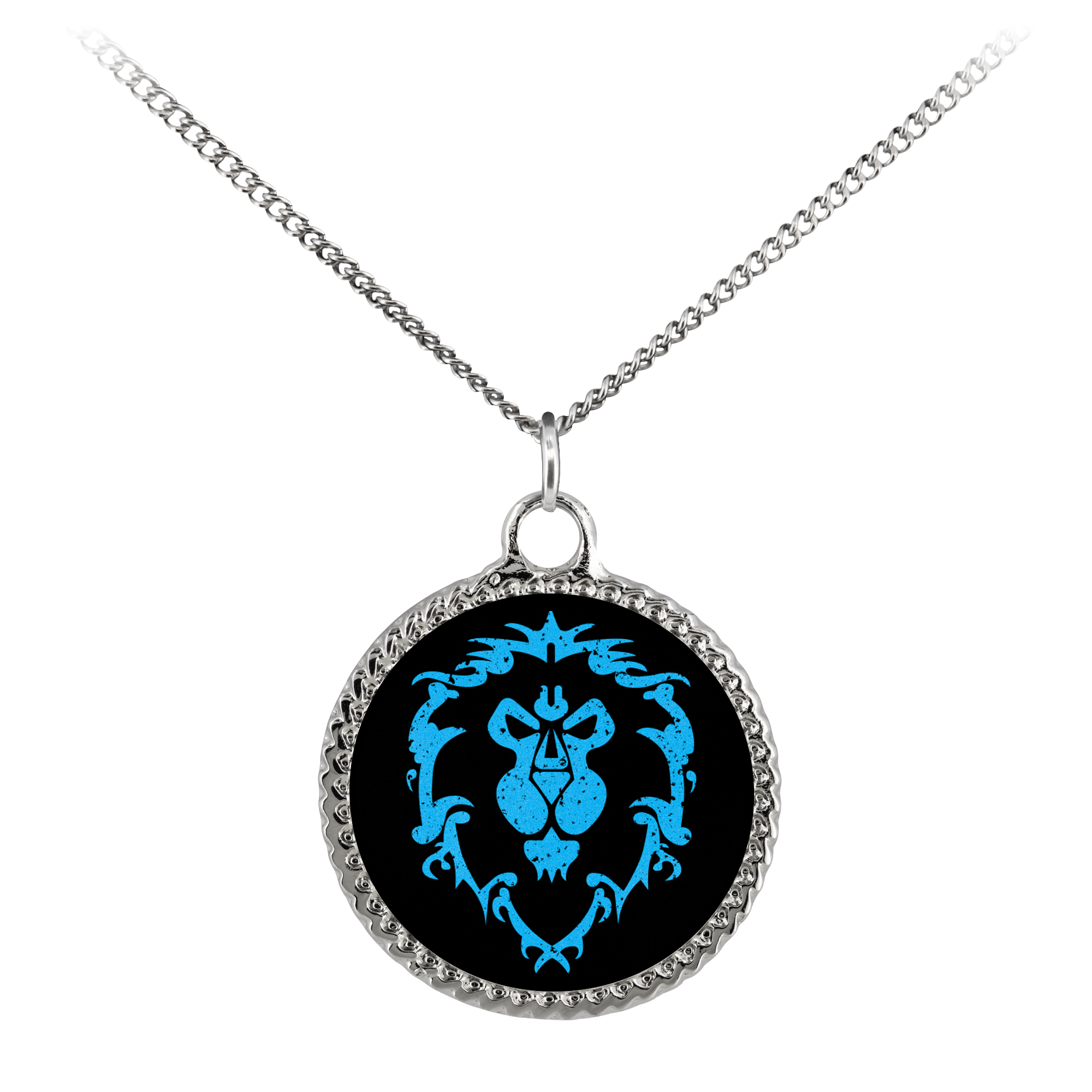 "World of Warcraft ""For the Alliance"" Deco Coin Necklace"