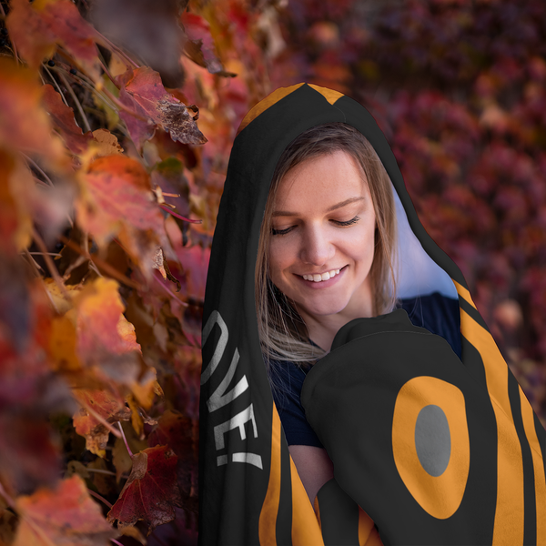 Overwatch Tracer Cheers Love Hooded Blanket