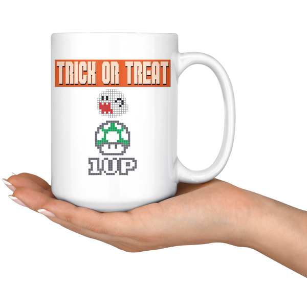 Trick or Treat Retro Gaming Mug