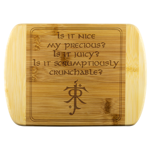LOTR Scrumptiously Crunchable Laser Etched Bamboo Cutting Board