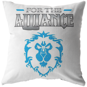 "World of Warcraft ""For the Alliance"" Pillow"