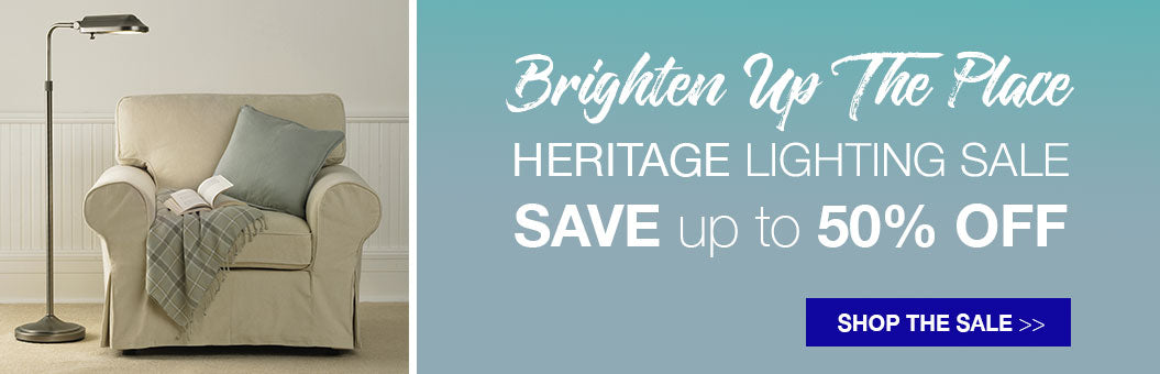 Heritage lamp sale. Save up to 50% off!