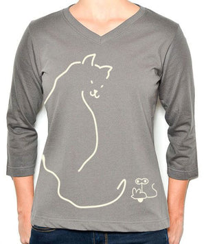 Kitty | 3/4 Sleeve V-Neck