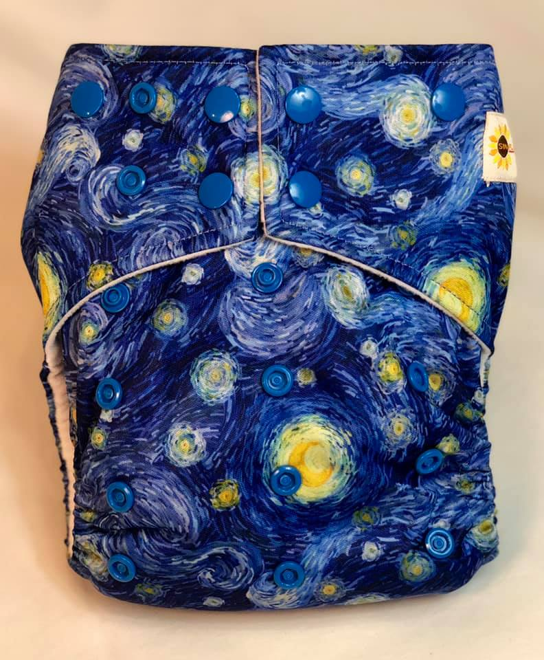 Happy Flute Customs- Van Gogh Pocket Diaper