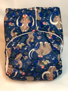 Happy Flute Customs- Mammoths Pocket Diaper *Upright Bum*