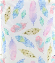 Load image into Gallery viewer, Happy Flute Custom Pocket Diaper - Watercolor Feathers