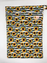 Load image into Gallery viewer, Sunflower Bottoms Wet Bag - Stripe Sunflowers