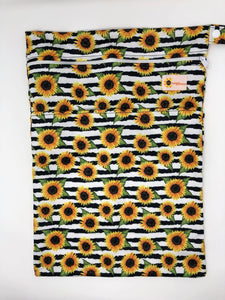 Sunflower Bottoms Wet Bag - Stripe Sunflowers