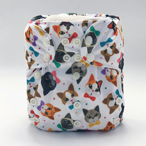 Sunflower Bottoms Diaper - Cats