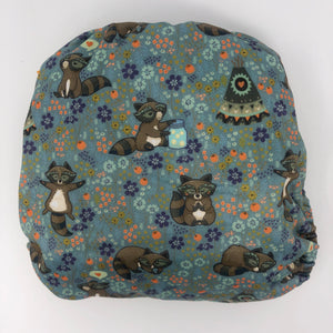 Sunflower Bottoms Pocket Diaper - Raccoons
