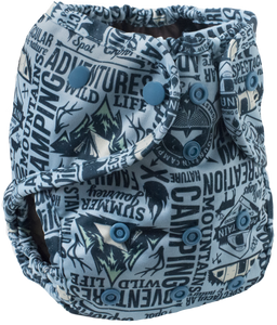 Buttons Diaper Cover - One Size - Campout