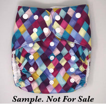 Load image into Gallery viewer, Happy Flute Custom Pocket Diaper - Black Hearts