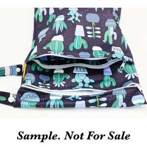 Sunflower Bottoms Wet Bag - Purple Floral