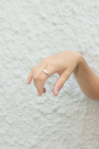 Hattie Mini Signet Ring in Sterling Silver