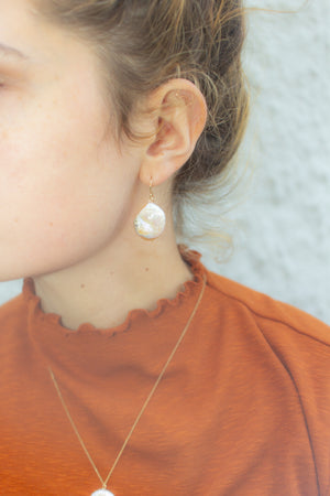 Vera Coin Pearl Earrings ☺
