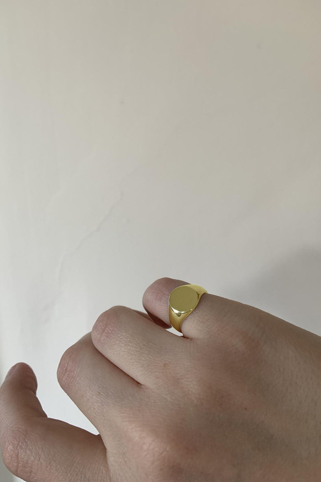 Emmy Petite Signet Ring in Solid 14K Gold