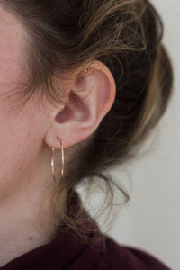 Bette Solid 14k Gold Hoops