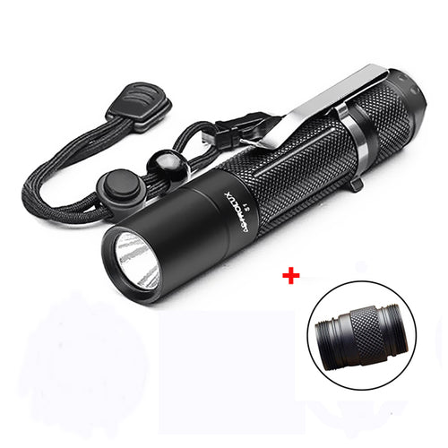 Portable Lighting Blue/red-led Flash Light Torch Original Jiguoor Alumiun Alloy 4 Colors 18350 Battery Compartment Lighting Accessories For S2 Flashlights & Torches