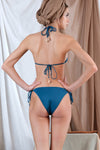 AKTAIA Bikini in Blue with Agate Precious Stone