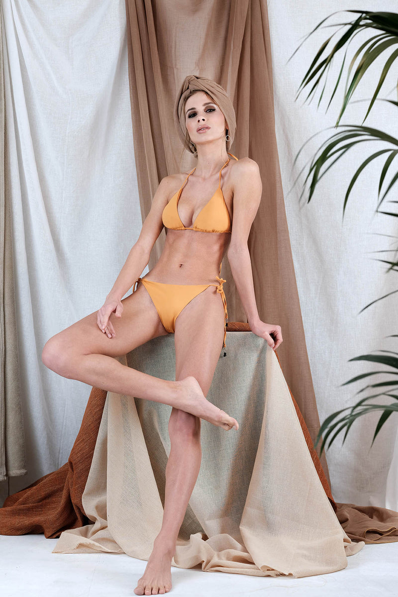 AKTAIA Bikini in Orange with Tourmaline Precious Stone