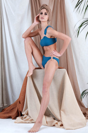 GALATIA Bikini in Blue with Agate Precious Stone