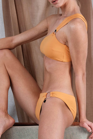 GALATIA Bikini in Orange with Tourmaline Precious Stone