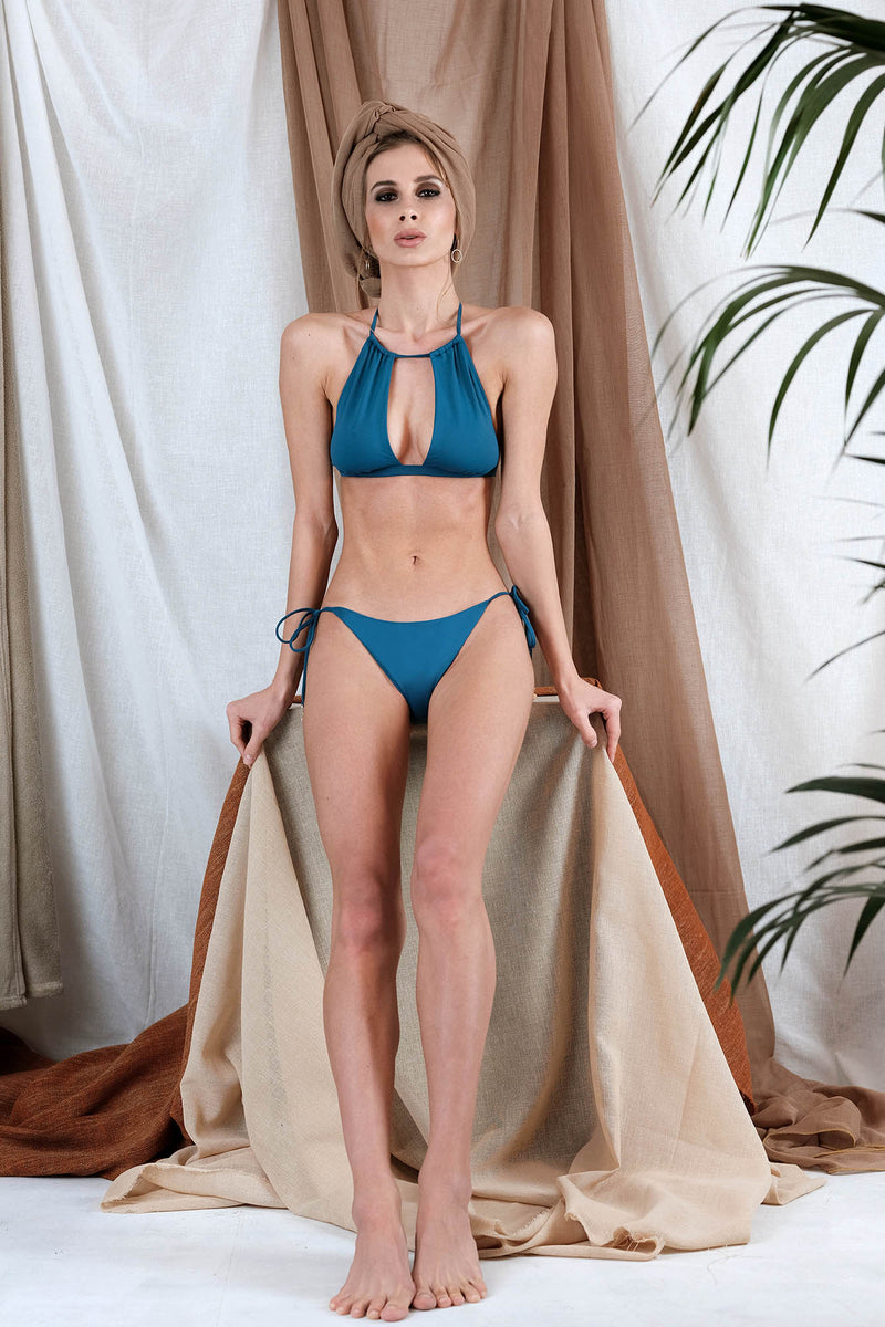 IONI Bikini in Blue with Agate Precious Stone