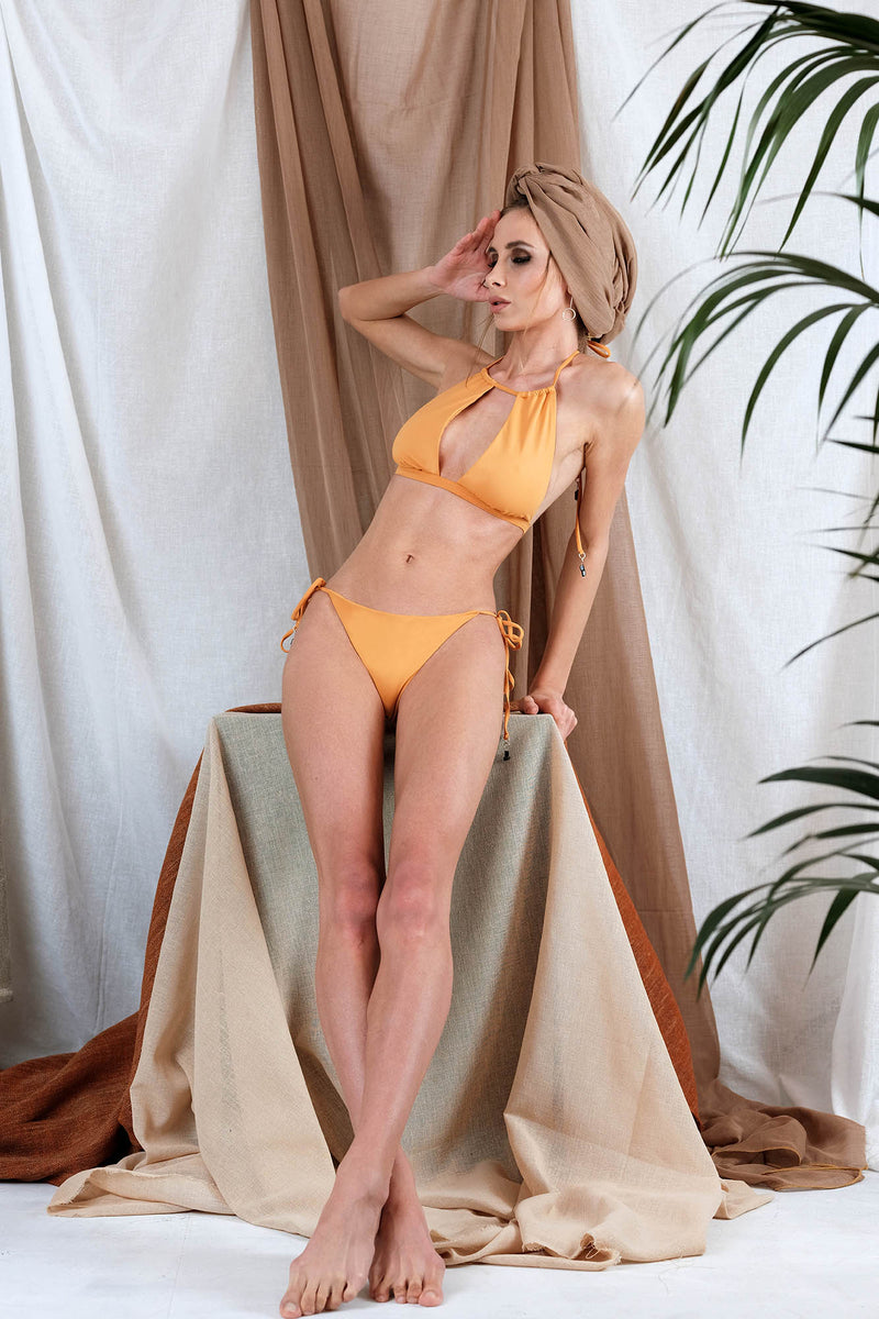 IONI Bikini in Orange with Tourmaline Precious Stone