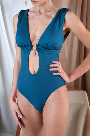 KLIMENI One Piece in Blue with Agate Precious Stone