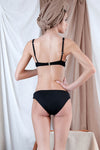 NISEA Bikini in Black with Pearl Precious Stone