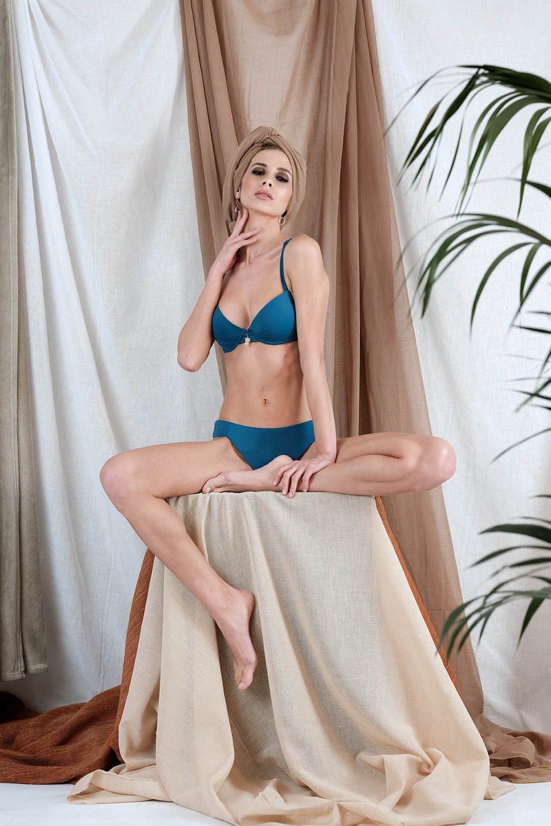 NISEA Bikini in Blue with Agate Precious Stone