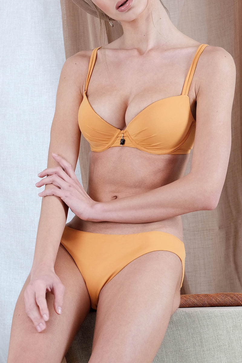 NISEA Bikini in Orange withTourmaline Precious Stone