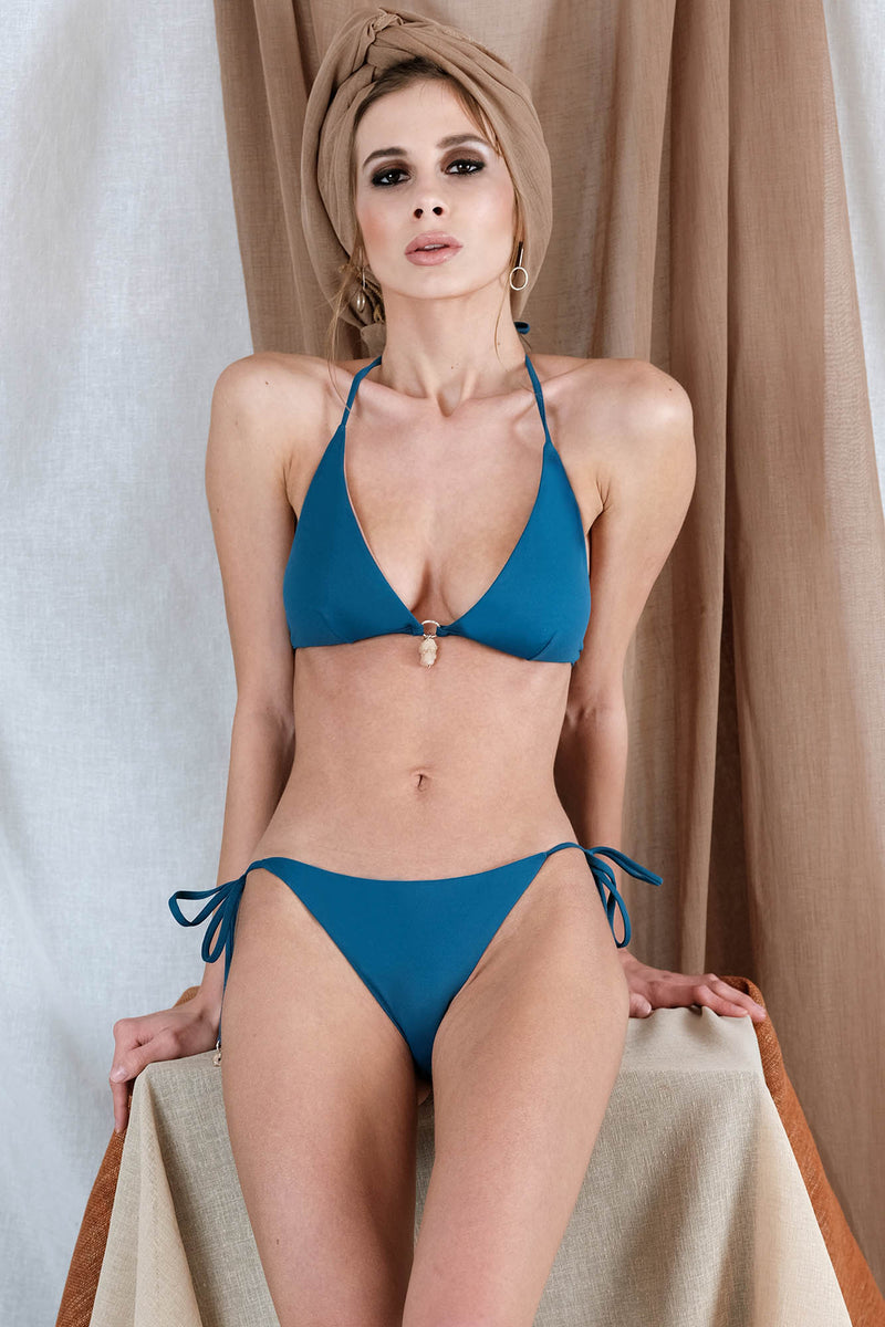 THEMISTO Bikini in Blue with Agate Precious Stone
