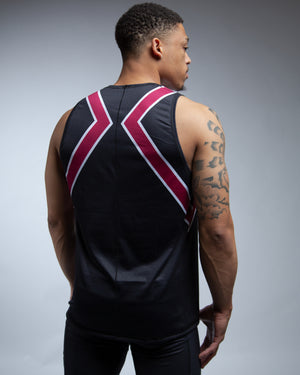 Wine Colorblock Muscle Tank