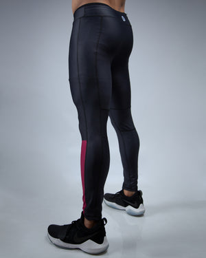Wine Colorblock Tight