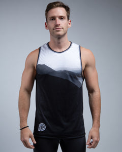Mountain Muscle Tank-White