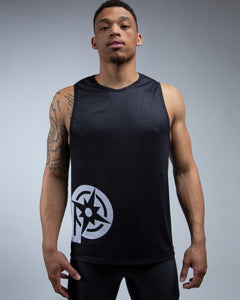 Journey Muscle Tank-Black
