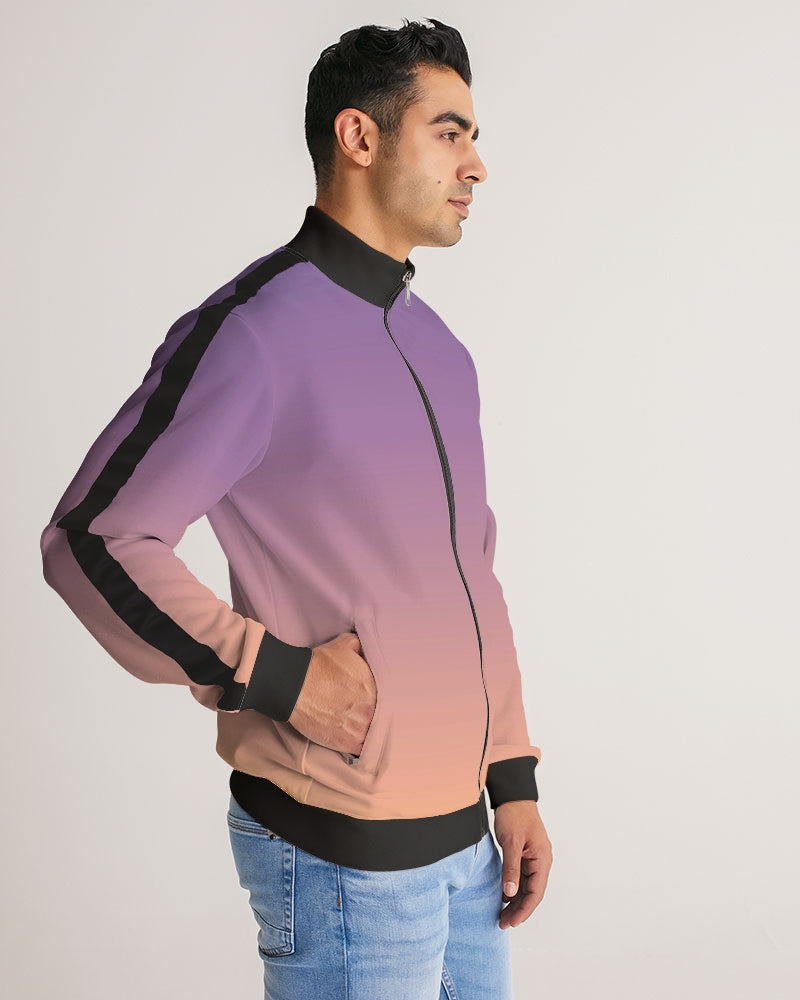 Skies of LA Men's Stripe-Sleeve Track Jacket