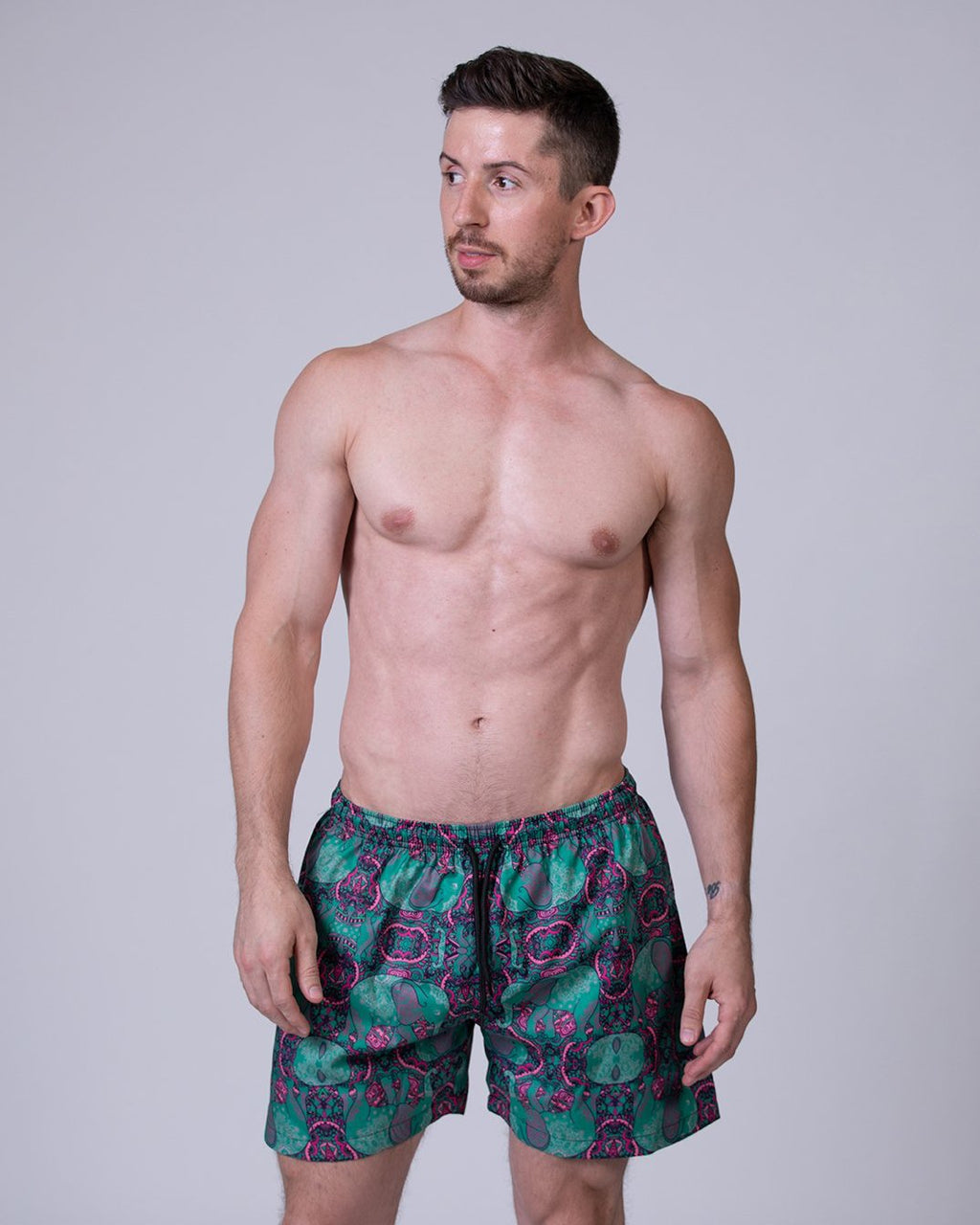 Elephant Print Swim Trunks
