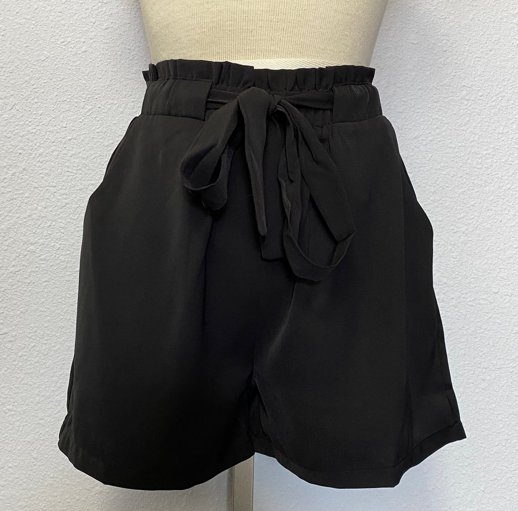 ELASTIC WAIST CLOTH SHORTS