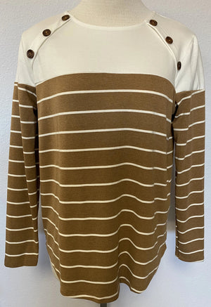 LS CONTRAST STRIPED TOP